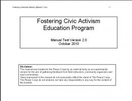 Fostering Activism Manual