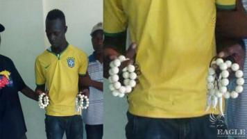 A trafficker arrested with worked Ivory