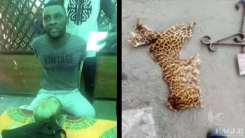 3 traffickers arrested with a human skull!
