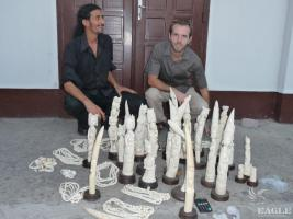 2009, Congo: 3 arrested with 40 kg of ivory